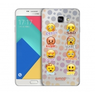 Emoji funda Samsung Galaxy A32017 Crazy, sad, etc transparente