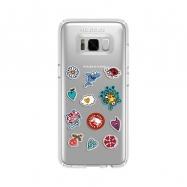 Kukuxumusu funda Samsung Galaxy S8 Parches transparente