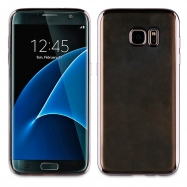 muvit Life funda Samsung Galaxy S7 Edge Bling transparente marco negro