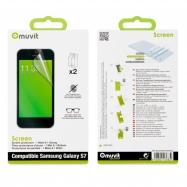 muvit protector pantalla flexible Samsung Galaxy S7 (1 unid mate + 1 unid brillo)