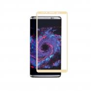 muvit protector pantalla Samsung Galaxy S8 vidrio templado curvo marco dorado