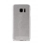 Puro carcasa Shine Samsung Galaxy S7 Edge plata