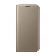 Samsung funda Flip Wallet Samsung Galaxy S7 Edge con ranura para tarjetas oro