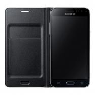Samsung funda Flip Wallet Samsung Galaxy J3 con ranura para tarjetas negra