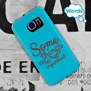 Words funda Samsung Galaxy S7tacto goma Some things azul