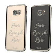Words funda Samsung Galaxy S7Edge Love laugh transparente