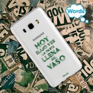 Words funda Samsung Galaxy J52016 Vaso transparente