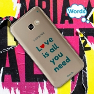 Words funda Samsung Galaxy A52017 Love is all you need transparente
