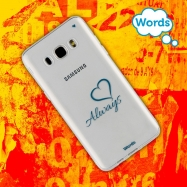 Words funda Samsung Galaxy J52016 Always transparente