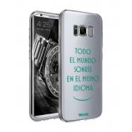 Words funda Samsung Galaxy S8Plus Sonríe transparente