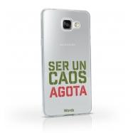 Words funda Samsung Galaxy A52017 Caos transparente
