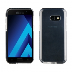 muvit Pro funda Cristal Soft Bump Samsung Galaxy A3 2017 shockproof transparente + borde negro