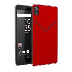 Made for Xperia carcasa Sony Xperia XA con ranura para tarjetas roja