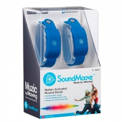 SoundMoovz Muzic by dancing! Pulsera musical interactiva azul