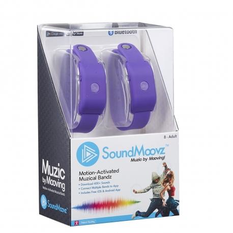 SoundMoovz Muzic by dancing! Pulsera musical interactiva lila