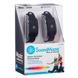 SoundMoovz Muzic by dancing! Pulsera musical interactiva negra