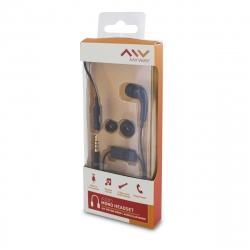 Myway auricular mono 3,5mm con micrófono negro