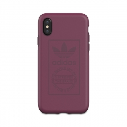 Adidas carcasa Apple iPhone Xs/X Shockproof Techink granate