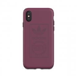 Adidas carcasa Apple iPhone Xs/X Shockproof Techink granate