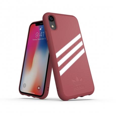 Adidas carcasa Apple iPhone XR Moulded Suede rosa malva/blanco