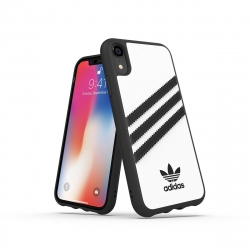Adidas carcasa 3 rayas Samba Apple iPhone XR blanca/negra