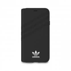 Adidas funda Apple iPhone XS/X Booklet negra/blanca