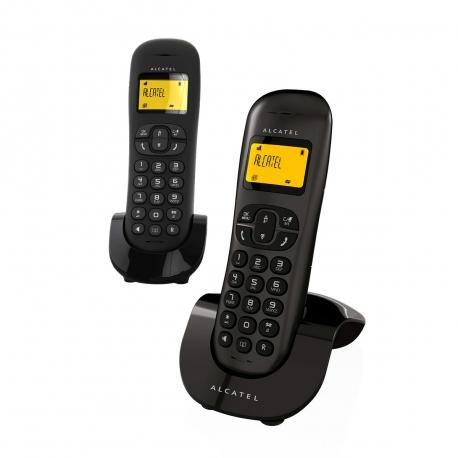 Alcatel teléfono DECT C250 dúo negro