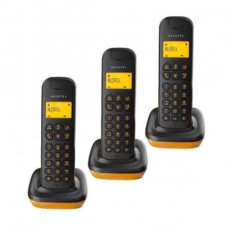 Alcatel teléfono DECT D135 trio negro/naranja