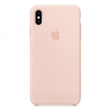 Apple carcasa silicona Apple iPhone XS Max rosa