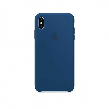 Apple carcasa silicona Apple iPhone Xs Max azul