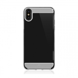 Black Rock carcasa Apple iPhone XS/X Air transparente