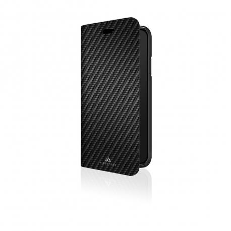 Black Rock funda Apple iPhone XS Max Flex Carbon Booklet negra