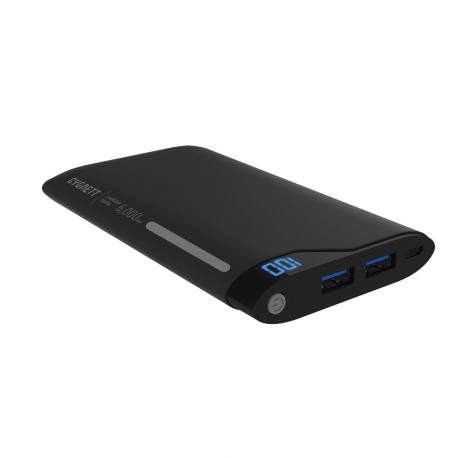 Cygnett power bank 6000 mAh USB 2 puertos 2.1A negro/gris