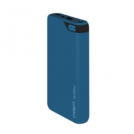 Cygnett power bank 15000 mAh 2 puertos USB 2.4A azul
