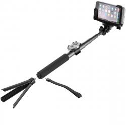 Cygnett Selfie Stick Bluetooth con tripode negro