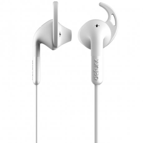 DeFunc +  SPORT auriculares con cable jack 3,5 mm blancos