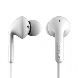 DeFunc + MUSIC auriculares con cable jack 3,5 mm blancos