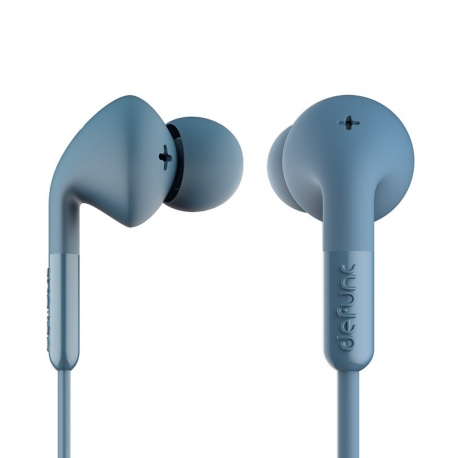DeFunc + MUSIC auriculares con cable jack 3,5 mm azules