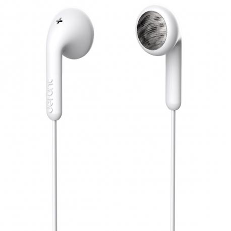 DeFunc Basic Talk auriculares con cable jack 3,5mm blancos