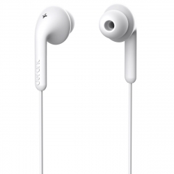 DeFunc Basic Music auriculares con cable jack 3,5mm blancos