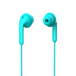 DeFunc Basic Music auriculares con cable jack 3,5mm azul cyan