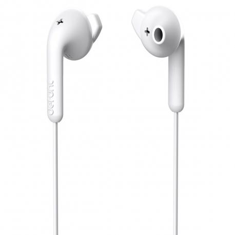 DeFunc Basic Hybrid auriculares con cable jack 3,5mm blancos