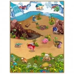 3DUPlay Alfombra interactiva Dino 3D 90 x 120 cm