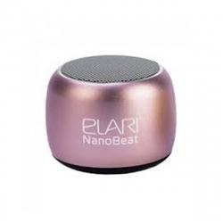 Elari Nanobeat mini altavoz bluetooth con capacidad de emparejamiento para producir sonido estéreo rosa