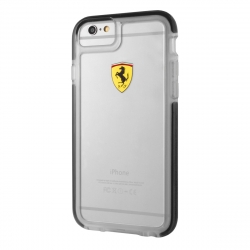 Ferrari funda Apple iPhone 6S/6 Shockproof transparente borde negro