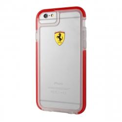 Ferrari funda Apple iPhone 6S/6 Shockproof transparente borde rojo