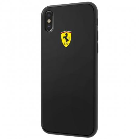Ferrari carcasa Apple iPhone Xs/X Heritage fibra carbono negra