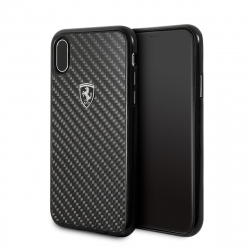 Ferrari carcasa Apple iPhone Xs/X fibra carbono negra