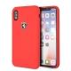 Ferrari funda Apple iPhone XS/X silicona roja