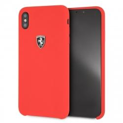 Ferrari funda Apple iPhone XS Max silicona roja